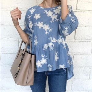 CHICWISH EMBROIDERED TOP
